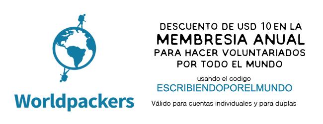 Descuento membreía anual worldpackers