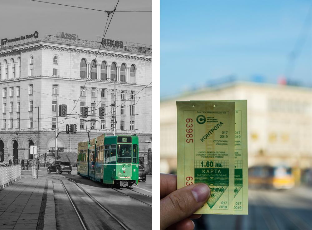 El tranvía y los boletos, todo muy vintage en Sofía (Bulgaria)